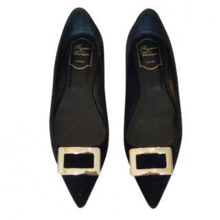 Roger Vivier black flat shoes