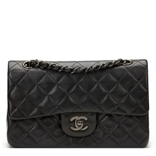 Chanel Black Quilted Lambskin Classic Double Flap Bag