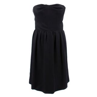 Balenciaga Edition Black Strapless Silk Dress