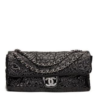 Chanel Quilted Patent Vinyl Jumbo Flap Bag
