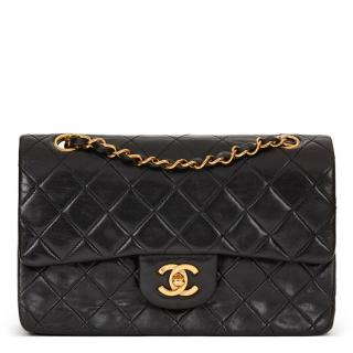 Chanel Black Quilted Lambskin Vintage Double Flap Bag