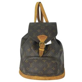 Louis Vuitton Montsouris MM Brown Monogram Back Pack 10778