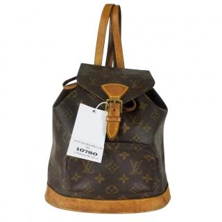 Louis Vuitton Montsouris MM Brown Monogram Back Pack 10780