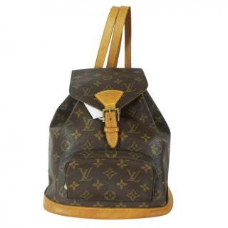 Louis Vuitton Montsouris MM  M51136 Brown Monogram Back Pack 1078