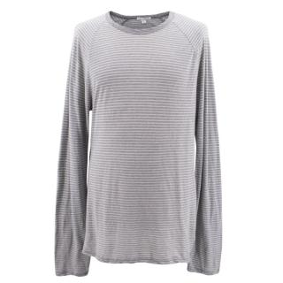 Standard James Perse Grey and White Striped Cotton Shirt