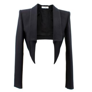 Emilio Pucci Black Cropped Wool Jacket