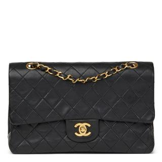 Chanel Medium Black Quilted Lambskin Classic Double Flap Bag