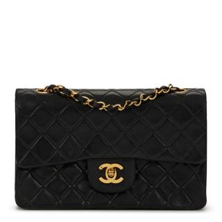 Chanel Black Quilted Lambskin Double Flap Bag