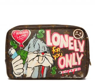 Louis Vuitton Hand-Painted 'Lonely Only For You' Toiletry Pouch