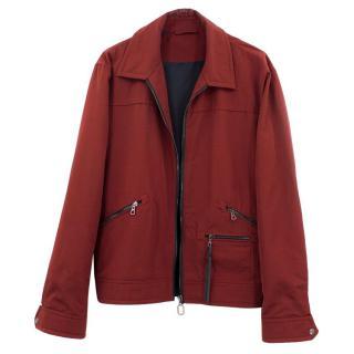 Lanvin Red Cotton Bomber Jacket