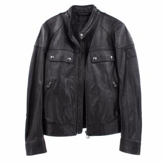 Belstaff Black Leather Jacket