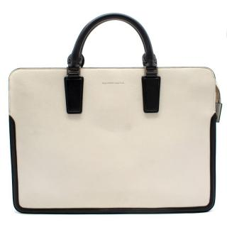 Alexander McQueen White and Black Leather Bag