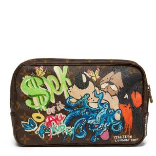 Louis Vuitton Hand Painted 'Sick Of It All' Toiletry Pouch
