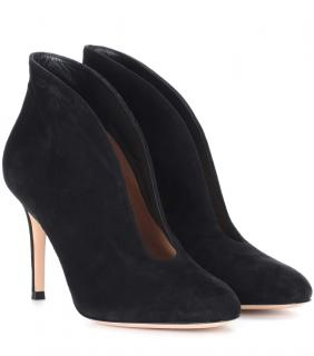 Gianvito Rossi Vamp 100 Suede Ankle Boots