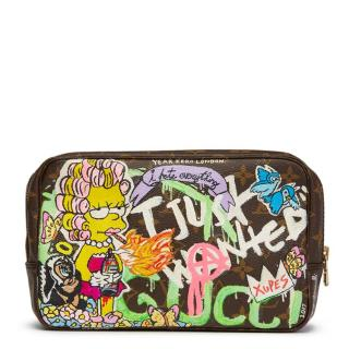 Louis Vuitton Hand Painted 'I Just Wanted A Gucci' Toiletry Pouch
