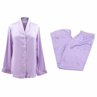 Olivia Von Halle Silk Printed Pyjama Set