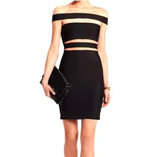 Balmain strapless bandage cutout dress