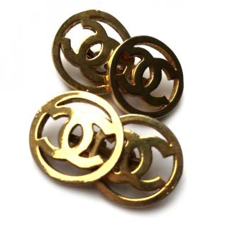 Chanel Gold Couture Cufflinks