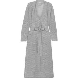 Stella McCartney womens SILK dressing gown grey spot print