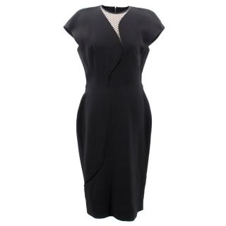 Victoria Beckham Black Silk Dress
