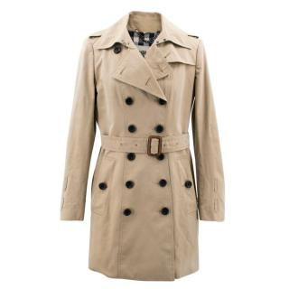 Burberry Tan Cotton Trench Coat