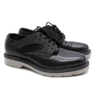 Alexander McQueen Black Leather Brogues