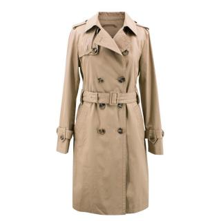 Massimo Dutti Tan Cotton Trench Coat