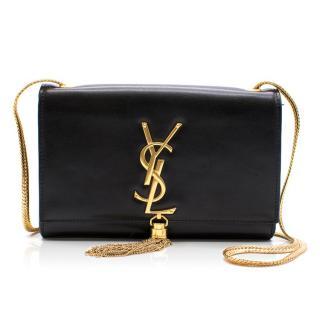 YSL Cassandre Black Leather Small Cross Body Bag