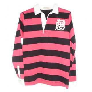 Burberry Red & Black rugby top