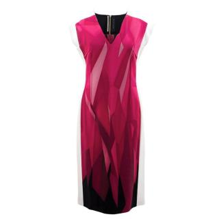Roland Mouret Geometric Patterned Dress
