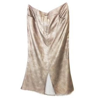 Chanel Linen Gold Skirt
