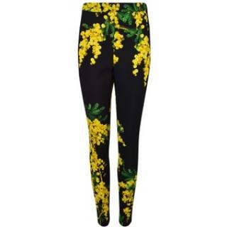 Dolce& Gabbana mimosa printed fitted trousers