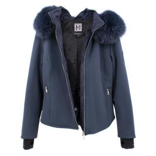 M.Miller Navy Blue Ski Coat with Fur Hood