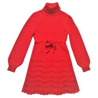 R.E.D. VALENTINO red knitwear dress