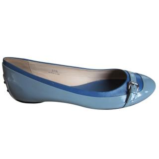 Tod's ballerina shoes flats blue