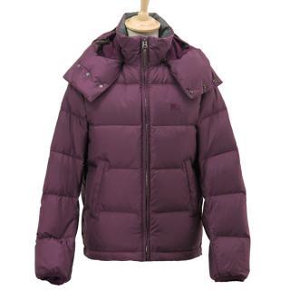 Burberry Purple Puffer Jacket