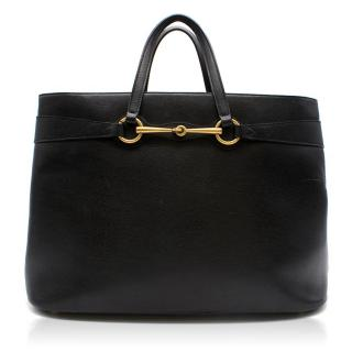 Gucci Black Leather Top Handle Bag