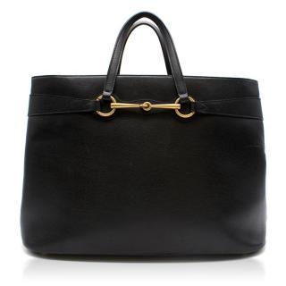 Gucci Black Leather Top Handle Bag
