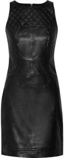 WALTER BAKER Jeffrey Black Leather Dress Size: S