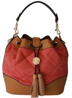 Aspinal of London Coral Suede and Leather Bucket Bag