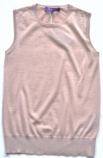 Ralph Lauren Collection rose sleeveless cashmere jumper