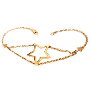 LC DESIGN Rose Gold Designer Open Star Bracelet 18ct Gold