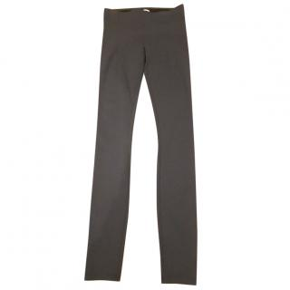 HELMUT LANG charcoal stretch legging Trousers Size: XS