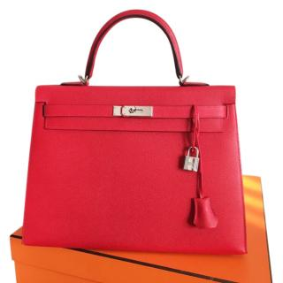 Hermes Kelly - Rouge Casaque - New Full set