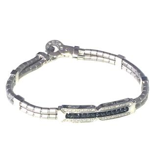 Zancan Goilelli 18kt white gold bracelet with black and white diamonds
