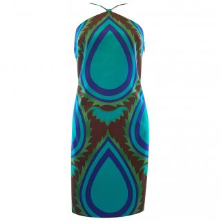 Versace printed halter Dress