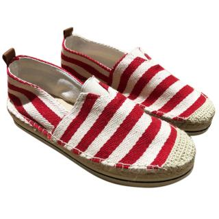 Colors Of California Striped Canvas Espadrilles