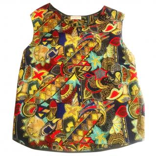 Dries Van Noten silk embroidered top