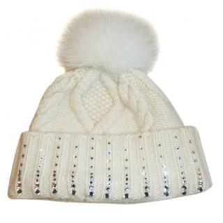 William Sharp Cashmere Bobble  Hat