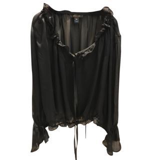 Roberto Cavalli black silk blouse